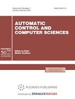 Automatic Control and Computer Sciences 1/2021