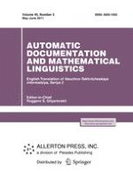 Automatic Documentation and Mathematical Linguistics 3/2011