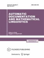 Automatic Documentation and Mathematical Linguistics 3/2017