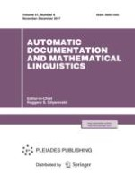 Automatic Documentation and Mathematical Linguistics 6/2017