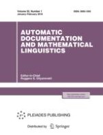 Automatic Documentation and Mathematical Linguistics 1/2018