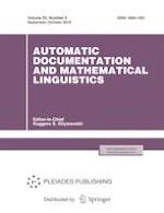 Automatic Documentation and Mathematical Linguistics 5/2018