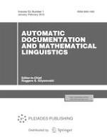 Automatic Documentation and Mathematical Linguistics 1/2019
