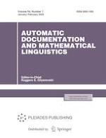 Automatic Documentation and Mathematical Linguistics 1/2020