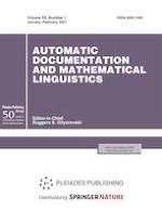 Automatic Documentation and Mathematical Linguistics 1/2021