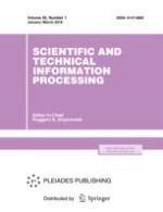 Scientific and Technical Information Processing 1/2018