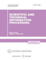 Scientific and Technical Information Processing 1/2019
