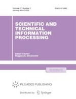 Scientific and Technical Information Processing 1/2020