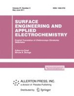Surface Engineering and Applied Electrochemistry 3/2011