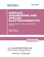 Surface Engineering and Applied Electrochemistry 5/2011