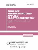 Surface Engineering and Applied Electrochemistry 1/2013