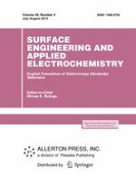 Surface Engineering and Applied Electrochemistry 4/2013