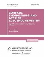Surface Engineering and Applied Electrochemistry 1/2014