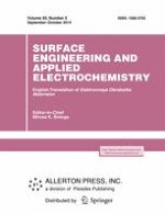 Surface Engineering and Applied Electrochemistry 5/2014
