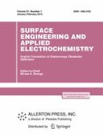 Surface Engineering and Applied Electrochemistry 1/2015