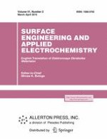 Surface Engineering and Applied Electrochemistry 2/2015
