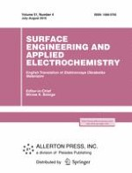 Surface Engineering and Applied Electrochemistry 4/2015