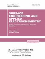 Surface Engineering and Applied Electrochemistry 5/2015