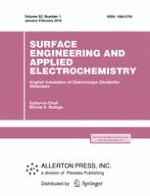 Surface Engineering and Applied Electrochemistry 1/2016