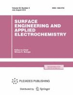 Surface Engineering and Applied Electrochemistry 4/2016