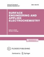 Surface Engineering and Applied Electrochemistry 6/2017
