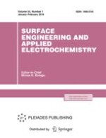 Surface Engineering and Applied Electrochemistry 1/2018