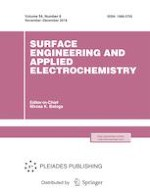 Surface Engineering and Applied Electrochemistry 6/2018