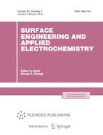 Surface Engineering and Applied Electrochemistry 1/2019