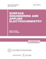 Surface Engineering and Applied Electrochemistry 2/2019