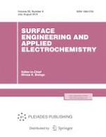 Surface Engineering and Applied Electrochemistry 4/2019