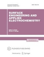 Surface Engineering and Applied Electrochemistry 5/2019