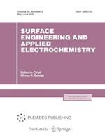 Surface Engineering and Applied Electrochemistry 3/2020