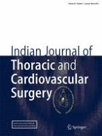 Indian Journal of Thoracic and Cardiovascular Surgery 1/2013