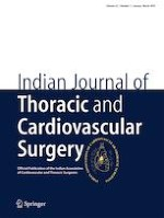 Indian Journal of Thoracic and Cardiovascular Surgery 1/2019