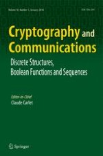 Cryptography and Communications 1/2018