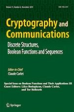 Cryptography and Communications 6/2019