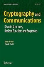 Cryptography and Communications 2/2020