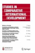 Studies in Comparative International Development 4/2017