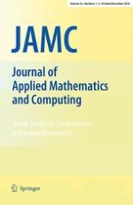 Journal of Applied Mathematics and Computing 1-2/2016