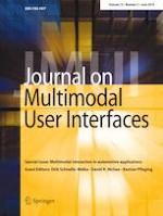 Journal on Multimodal User Interfaces 2/2019