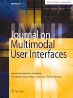 Journal on Multimodal User Interfaces 3/2019