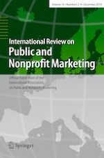 International Review on Public and Nonprofit Marketing 2-4/2019