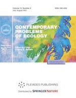 Contemporary Problems of Ecology 4/2021