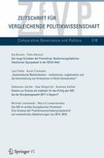Zeitschrift für Vergleichende Politikwissenschaft 3/2018