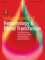 Indian Journal of Hematology and Blood Transfusion 4/2018