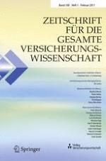 Zeitschrift für die gesamte Versicherungswissenschaft 1/2011