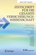 Zeitschrift für die gesamte Versicherungswissenschaft 1/2012