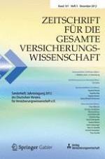 Zeitschrift für die gesamte Versicherungswissenschaft 5/2012