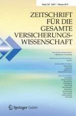 Zeitschrift für die gesamte Versicherungswissenschaft 1/2014