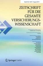 Zeitschrift für die gesamte Versicherungswissenschaft 3/2014